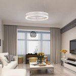 Suspension LED Lustre Moderne Plafonnier - Chambre Lampe Suspendus Luminaire, 3000K-6000K Télécommande Dimmable, 36W, AC220V (Remote control) de la marque MUMENG image 4 produit