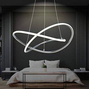 Suspension LED réglable| blanc chaud | Diamètre de 60cm | hauteur réglable | anneaux | Cuisine | Salon | Design | Plafonnier | Chambre à coucher | Moderne de la marque DL-designerlampen image 0 produit