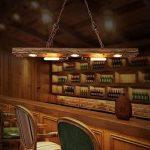 Suspension Luminaire Industrielle Lustre Vintage Rétro Plafonnier Eclairage Suspendu Métal et Bois E27 Lampe à suspension pour Cuisine Chambre Hôtel Salle à Manger Salon Bar Restaurant(5 Douilles) de la marque HBVAN image 3 produit