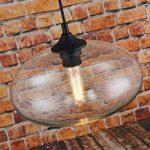 Suspension lumineuse en verre style vintage Transparent de la marque LOMT image 2 produit