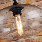 Suspension lumineuse en verre style vintage Transparent de la marque LOMT image 3 produit