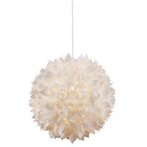 Suspension lustre éclairage plafonnier fleurs blanc feuilles salle de séjour de la marque Globo image 0 produit