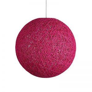 Suspension sisal Abat-jour Boule Ronde lustre rotin,Diamètre 23CM,Rose de la marque LANTU CREATIVE image 0 produit