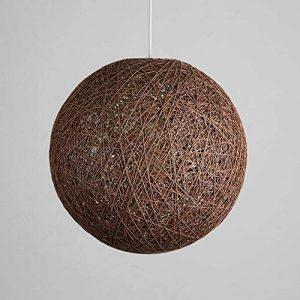 Suspension sisal Abat-jour Boule Ronde lustre rotin,Diamètre (Brown, 23cm) de la marque Huahan Extension image 0 produit