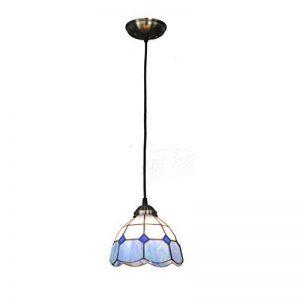 SX-CHENG *Lampe Classique 7 Pouces pendentifs Bleus et Blancs, Lampes de Restaurant Suspendus Allée escalier lumière européenne Minimaliste décoration légère décorés Bar Lustre de la marque SX-CHENG image 0 produit