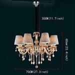 SX-CHENG *Lampe Lustre Cristal Lustre éclairage de Plafond (Couleur : No Cover, Taille : 6 Head) de la marque SX-CHENG image 1 produit