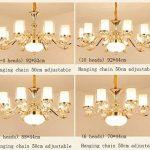 SX-CHENG *Lampe Lustre Cristal Lustre Moderne Plafonnier, Chambre Salon Restaurant Lumière Restaurant Lustre Salon Éclairage (Taille : 8+4 Heads) de la marque SX-CHENG image 2 produit