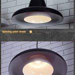 SX-CHENG *Lampe Moderne Bar Chandelier Petite Soucoupe Volante Restaurant Pendentif Lampe Étude Café Lumières Suspendues (Couleur : Noir) de la marque SX-CHENG image 3 produit