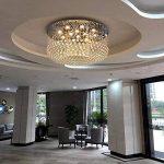 SX-CHENG *Lampe Moderne K9 Cristal Lustre Plafonnier Lustre Salon Salon Corridor Hall d'entrée Entrée Romantique De Mariage Décoration De La Maison Lampe (Taille : 40 * 30cm) de la marque SX-CHENG image 2 produit