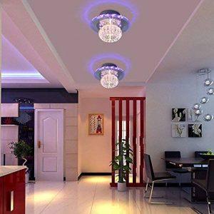 SX-CHENG *Lampe Moderne LED Cristal Plafonnier Lustre Manche/Balcon Lumière (Quatre Couleurs) de la marque SX-CHENG image 0 produit
