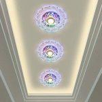 SX-ZZJ *Éclairage intérieur Lustre en Cristal Peacock LED Plafonniers 3W Rond éclairage Entrée Corridor Hallway Lights of Surface Mount Lamp de la marque SX-ZZJ image 2 produit