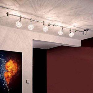 Système rail LED Spot Plafonnier Rail wire system - 200 cm haute tension - en métal de 5 ampoules G9 5 X 2.5 W [Classe d'efficacité énergétique A +] de la marque GCS image 0 produit