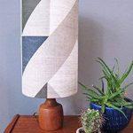 Tamasyn Gambell Bleu, Charbon de bois et gris Avion Curve Lin Abat-jour, Mini, d'autres, Bleu gris anthracite de la marque Tamasyn Gambell image 2 produit