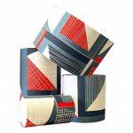 Tamasyn Gambell Rouge, bleu et gris anthracite abstrait carré Lin Abat-jour, Mini, d'autres, Rouge Bleu Anthracite de la marque Tamasyn Gambell image 1 produit