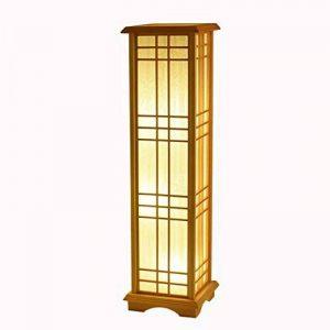 TangMengYun Lampadaire en bois de style japonais, lampe standard rectangulaire pour la lampe de chevet de chambre salon salle d'étude lampe de plancher ( Taille : 24*24*85CM-E27*3 ) de la marque TangMengYun image 0 produit