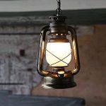 TangMengYun Lampe à pétrole Lustre rétro Lampe antique à cheval Lampe à plafond Lampe à plafond Lustre décoratif Restaurant Bar Café (E27) (Color : Sweep gold-180*280mm) de la marque TangMengYun image 3 produit