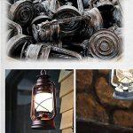 TangMengYun Lampe à pétrole Lustre rétro Lampe antique à cheval Lampe à plafond Lampe à plafond Lustre décoratif Restaurant Bar Café (E27) (Color : Sweep gold-180*280mm) de la marque TangMengYun image 4 produit