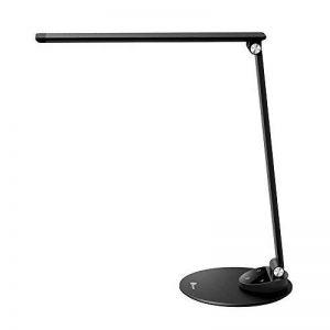 TaoTronics Lampe de Bureau Aluminium LED Ultra-mince Anti-éblouissement Lampe de Chevet Tactile 5 Températures de Couleur et 5 Niveaux de Luminosité, USB Port Female pour Recharger Smartphones - Noir de la marque TaoTronics image 0 produit