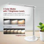 TaoTronics Lampe de Bureau LED 3 Modes de Couleur & 7 Niveaux de Luminosité Ajustable Lampe de Chevet Contrôle Tactile Protection des Yeux Design avec Fonction Mémoire - Argent de la marque TaoTronics image 1 produit