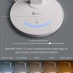 TaoTronics Lampe de Bureau LED 5 Modes de Couleur et 7 Niveaux de Luminosité Ajustable Contrôle Tactile Protection des Yeux Lampe de Table avec 1 Port Chargeur USB pour Charger Smartphone de la marque TaoTronics image 4 produit
