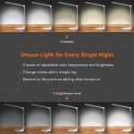 TaoTronics Lampe de Bureau Métal LED Ultra-mince Anti-éblouissement Lampe de Chevet Aluminium Tactile 5 Températures de Couleur et 5 Niveaux de Luminosité, USB Port Female pour Recharger Smartphones - Argent de la marque TaoTronics image 1 produit