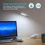 TaoTronics Lampe LED Portable Design en Col-de-cygne Lampe Pince USB Rechargeable 20 Ampoules LED et 30000 Heures de Durée de Vie pour Lecture, Travail, Veilleuses (Blanc) de la marque TaoTronics image 2 produit