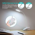 TaoTronics Lampe LED Portable Design en Col-de-cygne Lampe Pince USB Rechargeable 20 Ampoules LED et 30000 Heures de Durée de Vie pour Lecture, Travail, Veilleuses (Blanc) de la marque TaoTronics image 1 produit