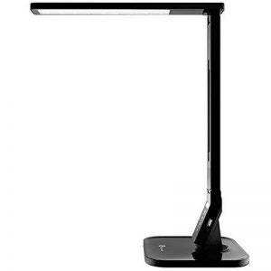 TaoTronics LED Lampe de Bureau 4 modes 5 Niveaux d'Intensité Réglable 14W Lampe de Table avec 1 Port Chargeur USB et Contrôle Tactile Fonction Minuterie et Mémoire, Bras Repliable, Classe Energétique A+ de la marque TaoTronics image 0 produit