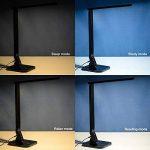 TaoTronics LED Lampe de Bureau 4 modes 5 Niveaux d'Intensité Réglable 14W Lampe de Table avec 1 Port Chargeur USB et Contrôle Tactile Fonction Minuterie et Mémoire, Bras Repliable, Classe Energétique A+ de la marque TaoTronics image 4 produit