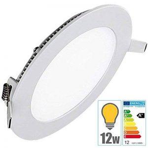 TechBox® Spot encastrable downlight plafonnier led 12W extra plat blanc chaud de la marque TechBox image 0 produit