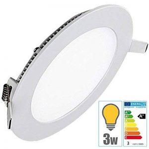 TechBox® Spot encastrable downlight plafonnier led 3W extra plat blanc chaud de la marque TechBox image 0 produit