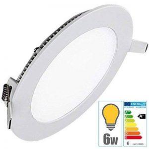TechBox® Spot encastrable downlight plafonnier led 6W extra plat blanc chaud de la marque TechBox image 0 produit