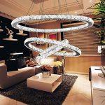 Tenlion Crystal Lustre Pendentif Lampe de Plafond 30cm * 50cm * 70cm Cool Blanc de la marque TENLION image 1 produit