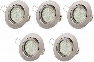 Tevea - Eclairage encastré cadre et lampe LED Downlight 230V 3.5W Ultra Slim - pivotant, cadre rond de la marque TEVEA image 0 produit