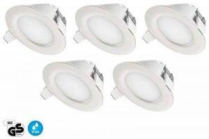 TEVEA - IP44 LED Spot Encastrable   aussi pour salle de bains   4W 230V   Lot de 5 Spots (Blanc Chaud) de la marque TEVEA image 0 produit
