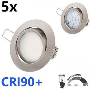 TEVEA - LED Spot Encastrable | Smart Dimmable | Ra 90 |Ultra Slim | 5.5 W 230V | Lot de 5 Spots de la marque TEVEA image 0 produit