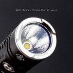 ThorFire Torche Rampe Lampe de Poche TK18 Lampe Tactique Professionnel XPL2 LED 1200 Lumen Lampe Etache IPX8 Waterproof Antidérapage avec Clip de Ceinture pour Sport Camping Pêche Jusqu'à 1200LM de la marque ThorFire image 3 produit