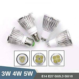 TIANLIANG04 Super bright LED spotlight Lampe 3W 4W 5W 85~265V E27 haute qualité E14 SPOT GU5.3 GU10 blanc chaud ampoule LED,E27-4W de la marque TIANLIANG04 image 0 produit