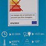 Tibelec 342120 Hublot LED Ovale avec Détecteur de Mouvement, Plastique, 10 W, Noir, 60 x 12 x 212 mm de la marque TIBELEC image 2 produit