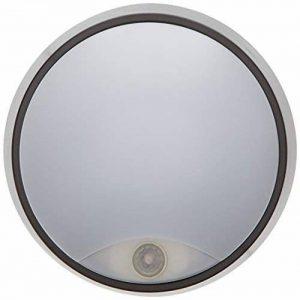 Tibelec 342220 Hublot LED Rond avec Détecteur de Mouvement, Plastique, 10 W, Noir, 80 x Ø 215mm de la marque TIBELEC image 0 produit