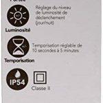 Tibelec 342220 Hublot LED Rond avec Détecteur de Mouvement, Plastique, 10 W, Noir, 80 x Ø 215mm de la marque TIBELEC image 2 produit