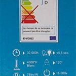 Tibelec 342220 Hublot LED Rond avec Détecteur de Mouvement, Plastique, 10 W, Noir, 80 x Ø 215mm de la marque TIBELEC image 3 produit