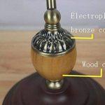 Tiffany Banque Lampe Retro Tiffany à la main Style Vitrail Lampe de Table E27, Base en alliage de zinc Lampe de bureau, Support de lampe en bakélite, VDE GJX (Conception : F) de la marque GJX image 3 produit