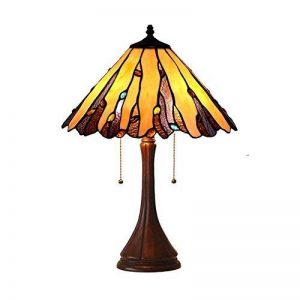 Tiffany Style Baroque Table Lampe Creative Simple Vitrail Lampes de Table Chambre Chevet Art Décoration Bureau Lampes E27 GJX de la marque GJX image 0 produit