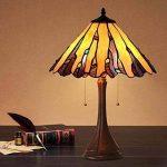 Tiffany Style Baroque Table Lampe Creative Simple Vitrail Lampes de Table Chambre Chevet Art Décoration Bureau Lampes E27 GJX de la marque GJX image 2 produit
