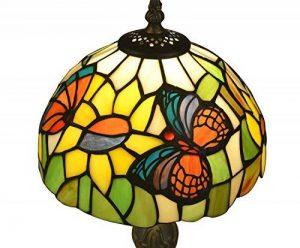 Tiffany Style E-NTA031-U Abat-jour de Lampe de Table Papillon / éclairage de Plafond, Multicolore, 8 Pouces Pack de 1 de la marque Nobeiyi Lighting image 0 produit