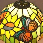 Tiffany Style E-NTA031-U Abat-jour de Lampe de Table Papillon / éclairage de Plafond, Multicolore, 8 Pouces Pack de 1 de la marque Nobeiyi Lighting image 1 produit