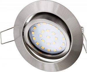 Téléviseur LED Spot LED encastrable Spot orientable inox brossé 230V fer-– 4W 350LM 120°–tagesweiß (4000K) de la marque HAVA image 0 produit