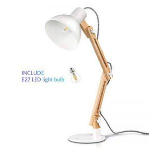 Tomons Décoration Lampe de Table LED Lampe de Bureau Salon Design Original Lampe en Bois Architecte Moderne Réglable Luminaire Industrielle à Pose de la marque Tomons image 0 produit