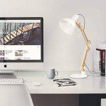 Tomons Décoration Lampe de Table LED Lampe de Bureau Salon Design Original Lampe en Bois Architecte Moderne Réglable Luminaire Industrielle à Pose de la marque Tomons image 4 produit